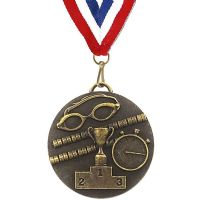 Target50 Swimming Medal with RWB</br>AM1013R.12